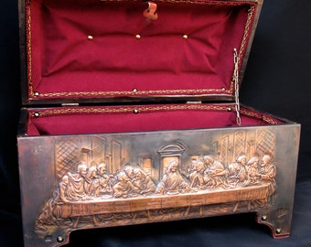 "TREASURE CHEST JEWELRY BOX ""Leonardo da Vinci"""