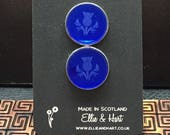 Thistle cuff links - Lase...