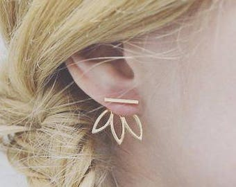 Leaf Out Earrings in Sterling Silver/ Gold Filled