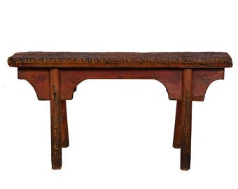 Chinese Antique Country Bench/Coffee Table 27B09C