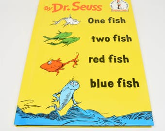 Red fish blue fish etsy for Blue fish book