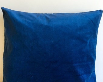 Deep blue Velvet Pillow Cover, Pillow Velvet,  Deep blue Pillow, Designer Pillow, Velvet Pillows, Velvet Cushion,Cover Deep blue Sofa Pillow