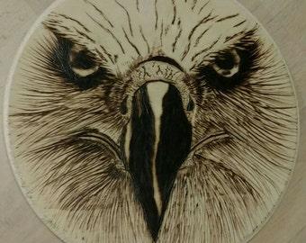 Eagle Head Woodburning