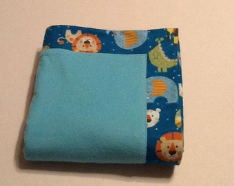Baby Receiving Blanket, baby lions, tigers, elephants