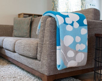 Kana Throw {Reycled cotton blanket inspired by Iceland}