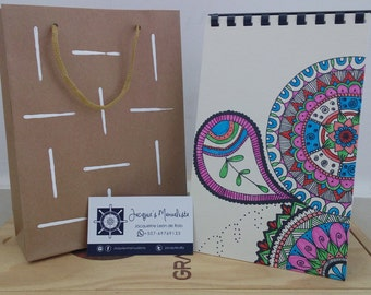 Original Mandala-Zetangle Notebook or Journal