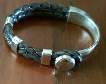 Snakeskin Leather cuff
