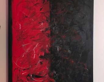 Painting on canvas shade of Red