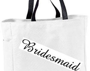 Personalized Essential Tote / Wedding / Travel / Gift / Portable