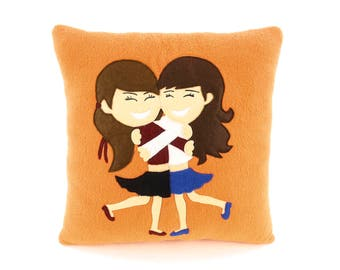 Best friend forever pillow | Great and unique present for friend - SofDecor
