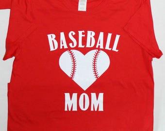 Baseball Mom tshirt, baseball, heart