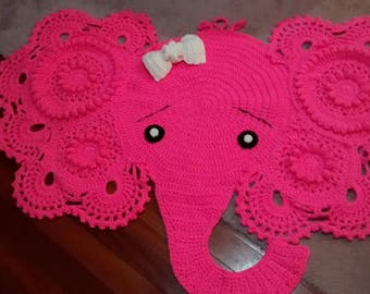 Elephant head rug (made to order)