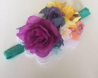 Floral headband M2M MJ; baby headband; flower headband.