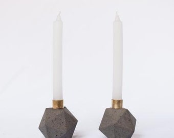 Geometric Candle Holder cement candle holder decorative candles gold candle designer candles decorative candles home decor grey candle
