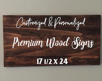 Custom Premium Wood Pallet Sign 17.5x24