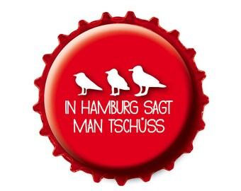 Bottle Cap magnet Hamburg says goodbye