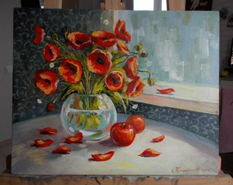 """Oil painting """"Flowers"""""""