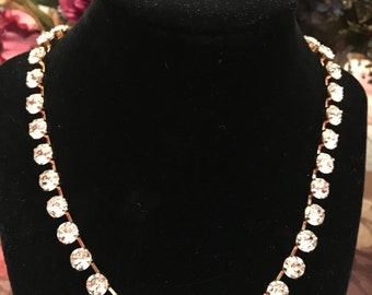 8.5mm Swarovski Crystals in Chrystal in a Rose Gold setting