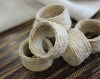 Jute Napkin Ring, Rustic Napkin Ring, Burlap Napkin Ring, Jute Napkin Holder, Rustic Napkin Holder, Burlap Napkin Holder, Rustic Decor