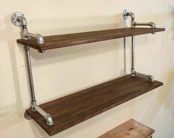 Industrial Pipe Shelving Unit