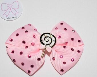Lollypop Hair Bow Clip