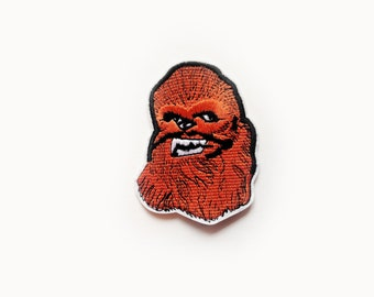 1x Chewbacca Star Wars patch Iron On Embroidered Applique Chubaka Wookie