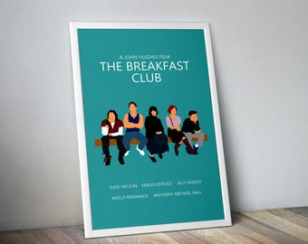 The Breakfast Club / Minimalist Movie Poster / John Hughes / Retro Movie poster / 80's poster