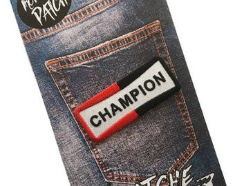 Champion Embroidered Iron On Patch