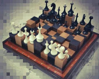 the 3D Hand made Chess set