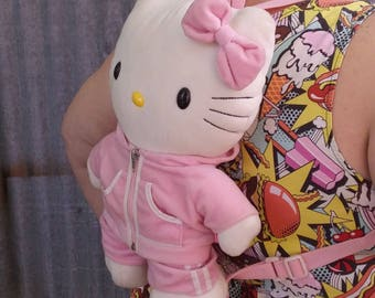 90s Hello Kitty vintage plush backpack!