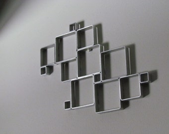 Modern Square Collage Metal Wall Art (3)