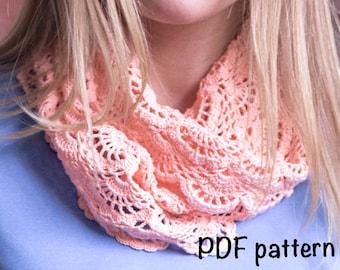 crochet pattern, scarf pattern, crochet scarf pattern, beautiful scarf, easy to follow, cowl pattern, infinite scarf pattern, PDF, DIY, nice