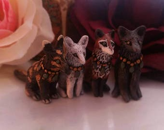 Custom Made Tiny Fox Figurines