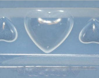 Small Heart Resin Jewellery Mould RM 1439