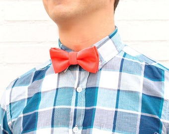 Coral bow tie bow ties