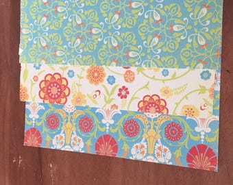 Cardstock /  Flowered 8 x 8 Paper / Card Stock / Scrapbook Paper / Scrapbooking / Card Making Paper / Paper Stock