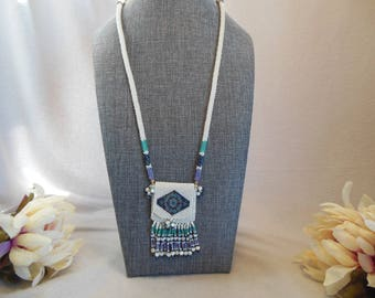 Amulet Bag w/Diamond Motif