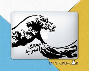 The Great Wave Off Kanagawa MacBook Decal Great Wave Off Kanagawa MacBook Sticker Great Wave Art Decal Hokusai Wave Japanese Art Vinyl m374
