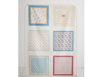 """Antique Flower illust Linen """"6in1"""" Cut Fabric"""