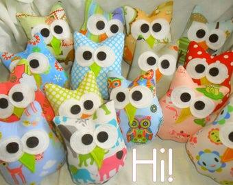 Owl Party Favors Six 5x4 Inch Plush Owls Party Favors