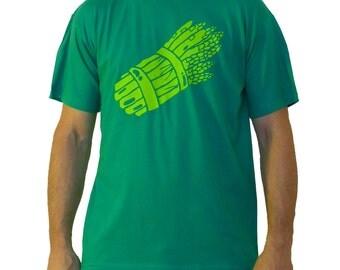 -Asparagus - Green T-shirt size L