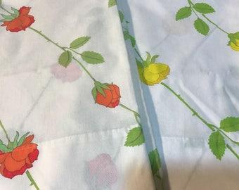 "2 Vintage Wamsutta Ultracale Pillowcases 20""x30"""