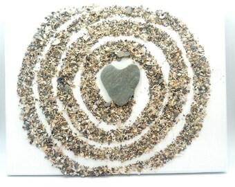 beach pebble canvas