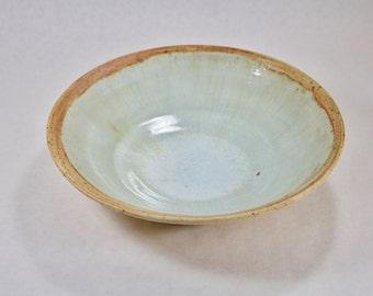 10 inch Multi clay serving bowl with Natural Wood Ash Glaze and Gurstley Borate