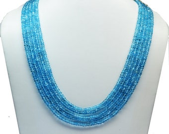 AAA quality Natural Swiss Blue Topaz faceted\14 inch strand approx