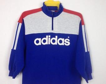 Vintage ADIDAS sweatshirt crewneck multicolor size small