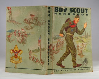 Boy Scout Handbook with Norman Rockwell Cover Art (1960) Boy Scouts of America Golden Anniversary - BSA Vintage Americana