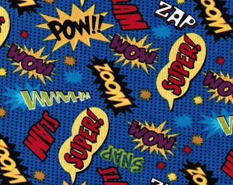 Comic Words fabric