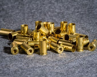 9mm (50) Clean and processed brass casings for reloading, Art projects, crafts, jewelry or any other uses