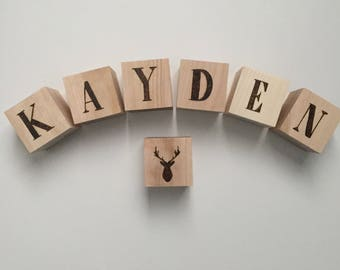 Custom Wood Blocks, Baby Name Blocks, Alphabet Blocks, Baby Gift, Personalized Blocks, Baby Shower Gift, Wood Blocks
